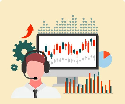 the images shows the financial advice with data analysis